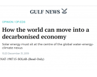 Professor Wang published an op-ed on Gulf News.